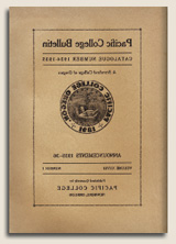 Pacific College Bulletin, Catalogue Number 1934-1935